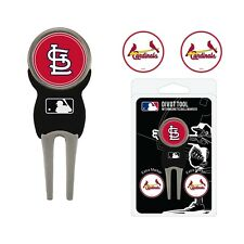 St Louis Cardinals  MLB Team Golf Divot Tool with 3 Magnetic Ball Markers