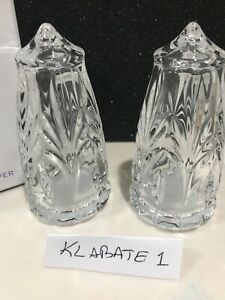 """NEW Waterford Crystal MARQUIS CANTERBURY 4"""" SALT & PEPPER SHAKERS Set # 1056566"""