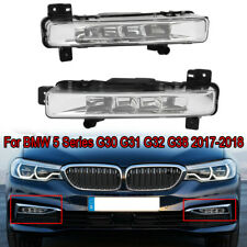 1Pair LH+RH Front Bumper LED Fog Lights DRL For BMW 5 Series G30 G31 2017-2018