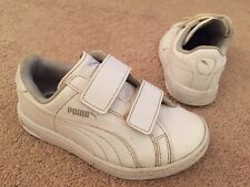 Unisex Puma Kinder-fit White Pumps Trainers Easy Fastening Uk Infant Size 10