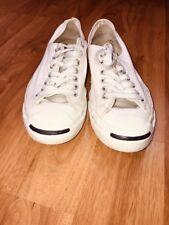 Rare Vintage Women's Converse Jack Purcell White Canvas Tinny Shoes Sz-9.5