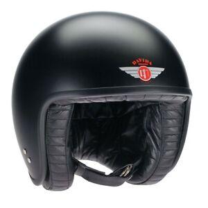 Davida Jet Matt Black Mens Open Face Motorcycle Motorbike Helmet X Small  XS*