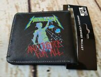 Brand New Metallica ...And Justice For All Officially Licensed Wallet Metal Logo
