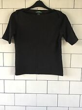 WOMEN'S RALPH LAUREN VINTAGE RETRO BLACK 3/4 SLEEVE T SHIRT JUMPER STYLE TOP
