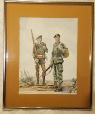 ORIGINAL RARE CLYDE RISLEY WATER COLOR SOLDIERS GREEN BERET 1973