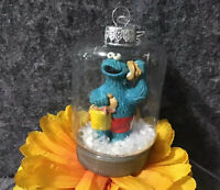 Sesame Street Seashell Seashore Cookie Monster Holiday Christmas Jar Ornament