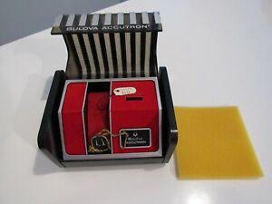 "Vintage Bulova Accutron 214 ""INNER"" Watch Box w/ Hang Tags 1960s-1970s  (D)"