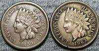 1859 1863 Indian Cent Penny  ---- Type Coin  ---- Q821