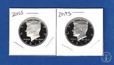 2016 S AND 2017 S Clad Proof Kennedy Half Dollars -GEM PROOF-Two Coins-IN STOCK