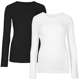 Marks & Spencer Womens Soft Brushed Long Sleeve Thick Warm Thermal New M&S Top