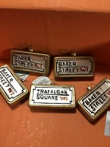 Gisels Graham 5 Gold Glitter Baker Street/ Trafalgar Square Sign Dec