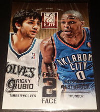 Russell Westbrook/Ricky Rubio 2013-14 Panini Elite FACE 2 FACE Insert Card