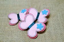 Felt Butterfly - Pink - Baby - Mobile - Craft - Scrapbook - Embellishment