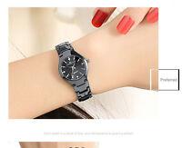Quartz Analog Stainless Steel Date Watch Waterproof Couple's Wrist Watches