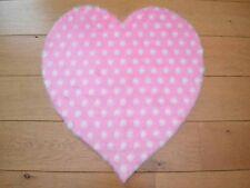 Cute Girls Pink Polka Dot Hearts Small Size Rugs Fluffy Bedroom Floor Mats Cheap
