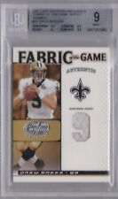 DREW BREES 2007 Leaf Certified Materials Fabric/Game Jersey Number /9 BGS 9