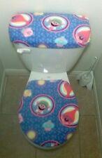 DreamWorks Trolls Light Blue Fleece Toilet Seat Cover Set 2PC