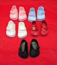 Cinderella  Doll Shoes Strap, Size 0  White, Red,Pink,Blue or Black