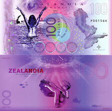 ZEALANDIA 100 Dollars Fun-Fantasy Note 2018 Private Issue Polymer Banknote Bill