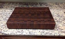 "Cutting Board 3"" Thick Walnut Butcher Block End Grain 16 X 20 Dark Brown Wood"