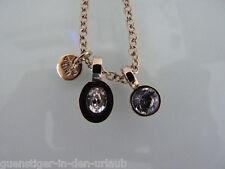 Dyrberg / Kern Halskette mit Anhänger mit Swarovski Kristall Kette Schmuck gold