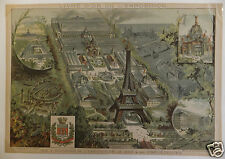 Paris Exposition Universelle 1889 vue générale 19ème siècle