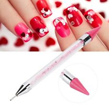 Silicone Dual-Ended Dotting Pen Diamond Picker Wax Pencil Manicure Nail Art Tool