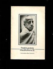 Prabhupada Meditations 4 by Satsvarupa Dasa Goswami (1993,softcover