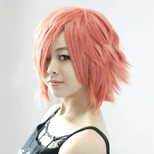 NEW Pink Orange Short Shining Anime Cosplay cos Wig+wig cap