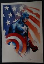 Captain America Michael Turner Aspen Art Print