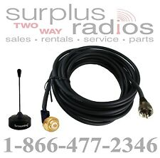 BLACK 800MHZ NMO PRETUNED ANTENNA KIT KENWOOD TK-5910 NX-900 NX-920G TK-980