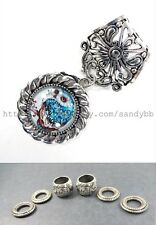 US Seller- wholesale jewelry scarf owl animal scarf rings bail pendant set
