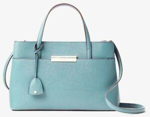 Kate Spade Zuri Blue Saffiano Leather Satchel Crossbody Bag WKRU4597 NWT $348 FS