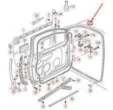 Volkswagen GOLF MK5 Front Left Door Inner Seal 1K4867911E9B9 NEW GENUINE