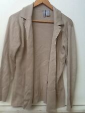 Collection By Cherokee Womens Size S Tan Beige Open Front Cardigan Sweater