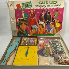 1968 Milton Bradley Cut Up Shopping Spree Board Game Paper Dolls VTG Collectible