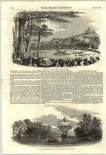 1853 The African Slave Trade Captured Boat Gold Coast War Threat
