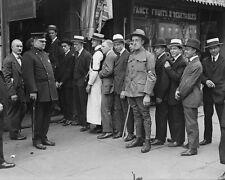 Men line up in New York City for World War I Draft registration 1917 Photo Print