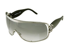 ROBERTO CAVALLI 'Tideo' Ladies Black Silver Sunglasses RC384s A36 Grey Gradient