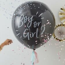 Gender Reveal Party Giant Confetti Balloon Kit Girl or Boy With Tassels Oh Baby