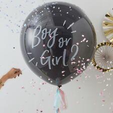 Gender Reveal Fête Géant Confettis Ballon Kit fille ou garçon avec pampilles oh baby