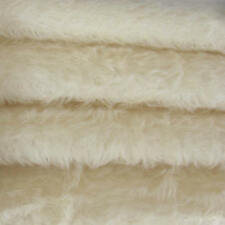 "1/6 yd 325S/C White INTERCAL 5/8"" Semi-Sparse Curly German Mohair Fur Fabric"