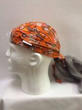 Assorted Doo Rag Bandana with grey synthetic hair fun hat Comeaux Caps Halloween