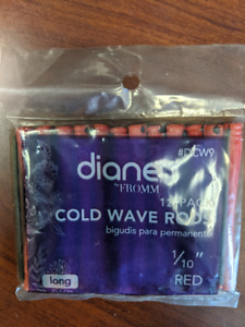 """Hair Perm Cold Wave Rods Long 1/10"""" Red - 12 per Pack #DCW9 by Diane"""