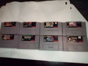 SNES Super Nintendo Game lot of 8 Games. Lion King, Busy,Aero,primal rage,more