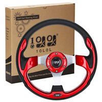 10L0L Golf Cart Steering Wheel 13 inch For Ezgo Yamaha Club Car Golf Cart Red US