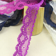 5 yards/lot  20mm width Elastic Stretch Lace trim sewing/garment/clothes 8 #