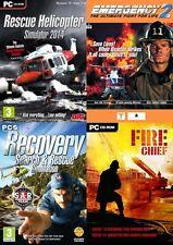 Búsqueda de recuperación + rescate & Simulador de helicóptero de rescate & Fire Chief & de emergencia 2