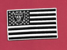 "New Oakland Raiders ' Flag' 2 X 4""  Iron on Patch Free Shipping"