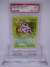 PSA 9 MINT Nidoking 4th Print Base Set 1999-2000 Holo Pokemon Card 11/102    M36